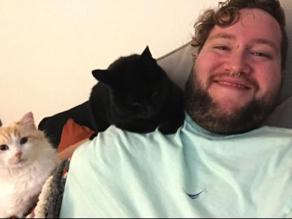 Chris Dubbs wth cats