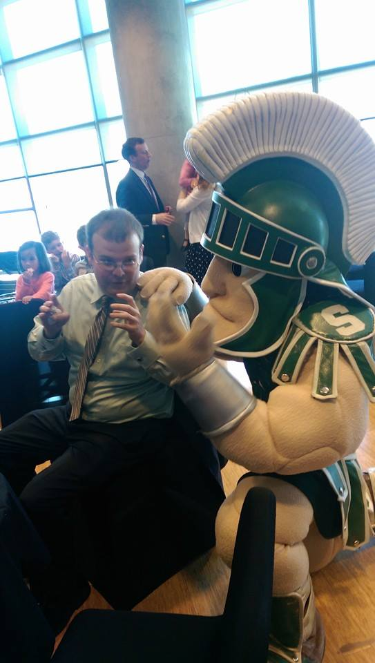 Mike Morissette photo with Sparty