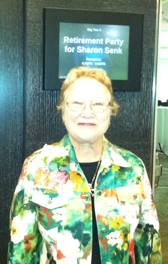 Sharon Senk at her Retirement Reception