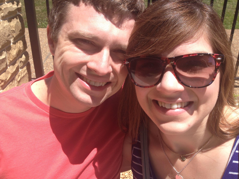Amanda Opperman with husband