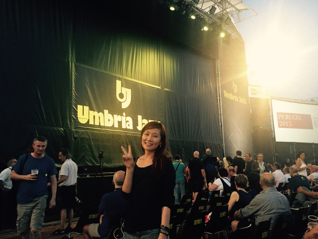 Sunyoung at Jazz Festival in Umbria, Italy. Tony Bennett & Lady Gaga! Awesome!