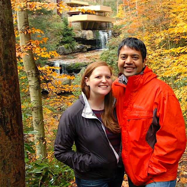 Shiv and Monica Fall colors photo